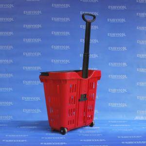 canasta plástica roja