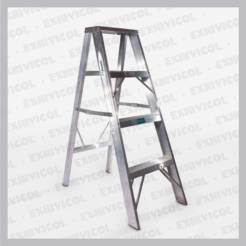 Escalera en aluminio tipo tijera emma 4 pasos for Escalera telescopica tipo tijera
