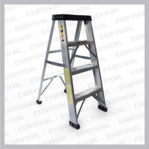 Escalera en aluminio tipo tijera 4 pasos