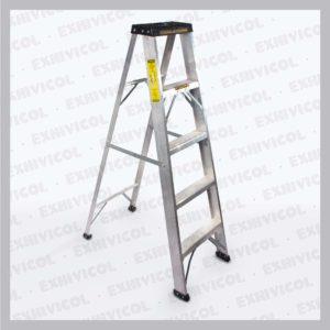 Escalera en aluminio tipo tijera 5 pasos