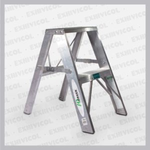 Escalera en aluminio tipo tijera emma 2 pasos