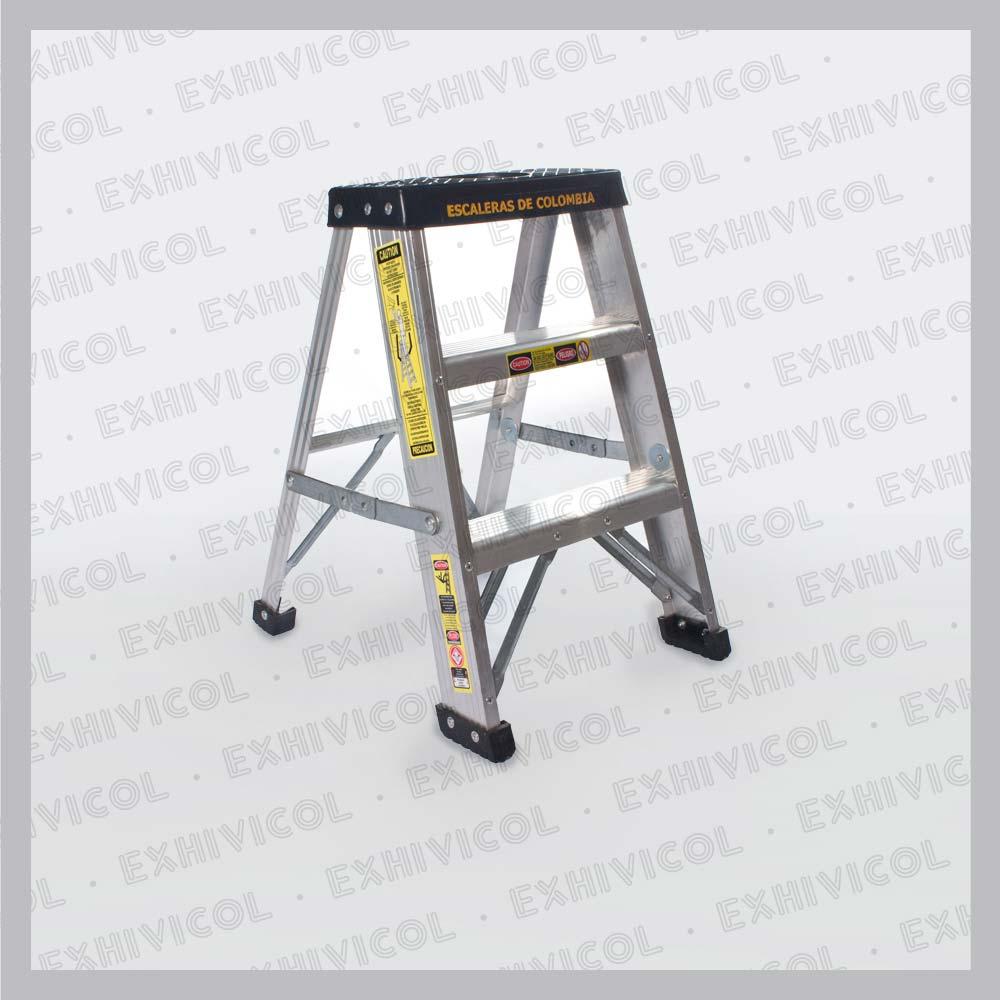 Escalera en aluminio tipo tijera for Escalera telescopica tipo tijera
