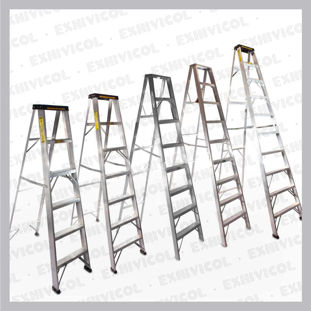 Escaleras en aluminio tipo tijera emma for Tipos de escaleras de aluminio