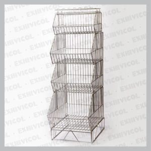 Exhibidor módulo 4500, con 4 canastas y base