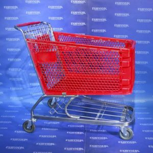 Carro plástico supermercado
