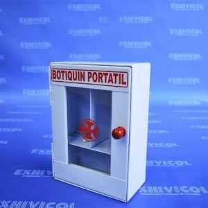 Botiquín metálico pequeño portátil