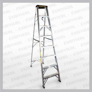 Escalera en aluminio tipo tijera 8 pasos