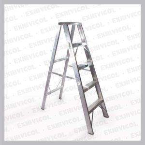 Escalera en aluminio tipo tijera emma 5 pasos