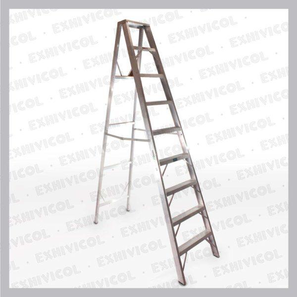 Escalera en aluminio tipo tijera emma 9 pasos
