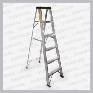Escalera en aluminio tipo tijera 6 pasos
