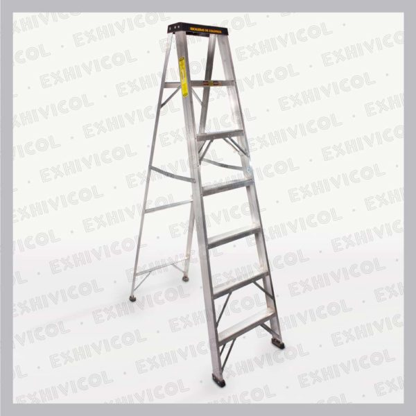 Escalera en aluminio tipo tijera 7 pasos