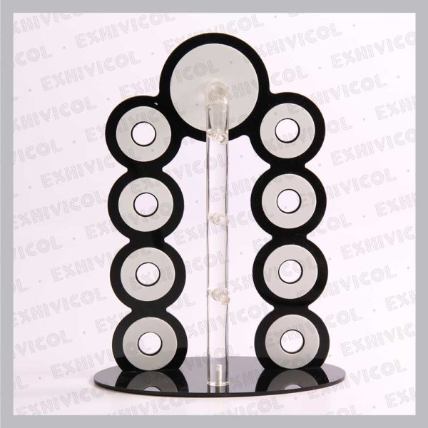 Acrilico mostrador gafas 4 servicios figura redonda