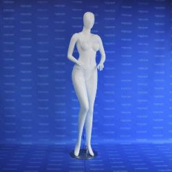 Maniquí dama peruana androide recta