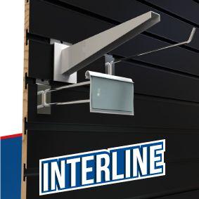 Interline panel ranurado