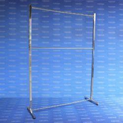 Exhibidor EI 100 tubo cuadrado con niveladores cromado
