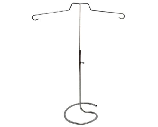 Exhibidor para blusas en alambre con acabados cromados