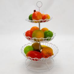Frutero de decoración para centros de mesa o Cocinas en alambre de alta calidad y acabados en pintura electrostática