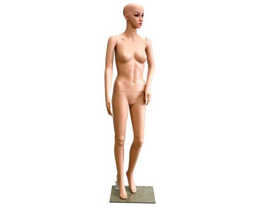 Maniquí plástico mujer realista con pose de medio lado