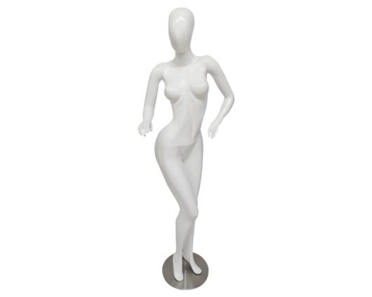 Maniquí Androide blanco y negro elaborado en fibra de vidrio y con base en acero inoxidable